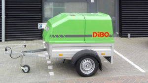 The high-pressure trailer will mainly be used for spraying facades