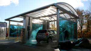 New DiBO WASHVISION self-service car wash with NFC payment system in Estonia