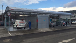 A new DiBO self-carwash at the Czech-German border