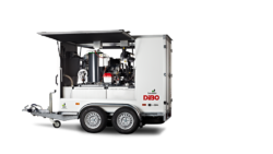 New DiBO high pressure trailer with vacuum system on its way to the United Kingdom